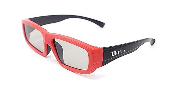 Ultra 1 Par de Rojo y Negro Gafas 3D Pasivo para Niños para Uso ...