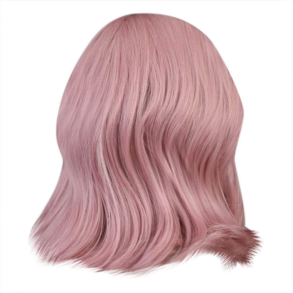 YA-Uzeun - Peluca de pelo largo y rizado, color rosa: Amazon ...
