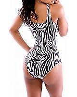 AWEIDS Zebra-stripe One-pieces Tank Bikini Swimsuit Swimming Suit