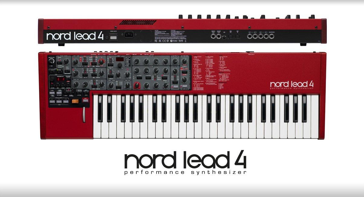 Clavia DMI AB Nord Lead 4 - Teclado MIDI (USB, 86,4 cm, 27,2 cm, 9,4 cm) Negro, Gris, Rojo, Color blanco AMS-NL4