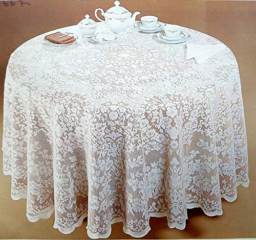 Lace Round Tablecloth - AdonisUSA White Lace Tablecloth in Round