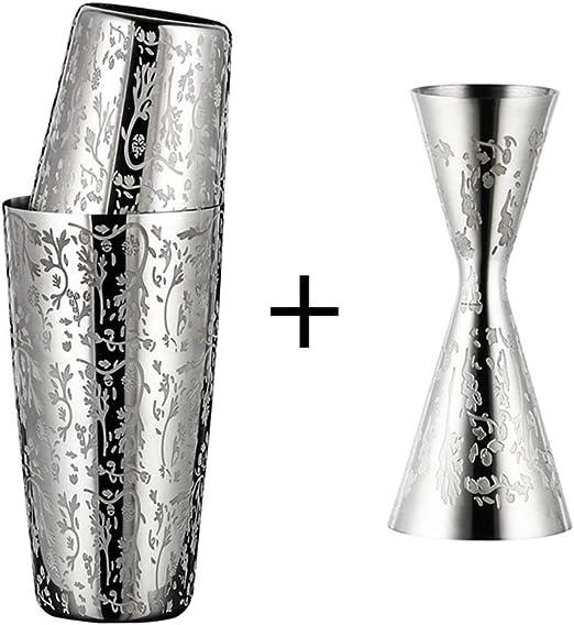 Compra LTLSF Acero Inoxidable 304 Grabado Boston Cocktail Shaker ...