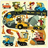 "Mudpuppy Jumbo Construction Site Puzzle for Ages 2 to 5 – 25 Piece Construction Equipment Puzzle, Measures 22"" Square"