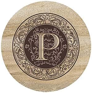 Thirstystone Sandstone Trivet Monogram P