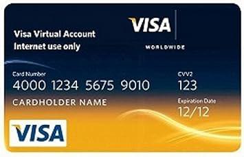 amazoncom virtual visa credit card vcc 10 preloaded everything else - Virtual Visa Card