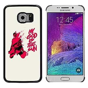 My God Is the Sun - Metal de aluminio y de plástico duro Caja del teléfono - Negro - Samsung Galaxy S6 EDGE / SM-G925 / SM-G925A / SM-G925T / SM-G925F / SM-G925I