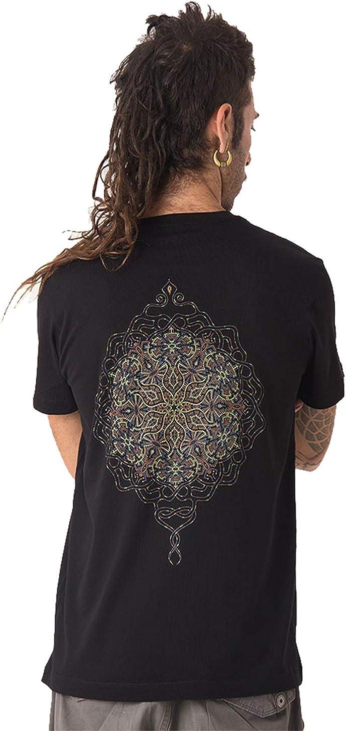 Street Habit Camiseta Mandala de Sol - Moda Joven con diseño gráfico psicodélico en algodón 100% para Hombre: Amazon.es: Ropa y accesorios