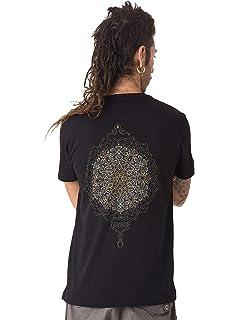 Street Habit Camiseta Negra Estampada de Mandalas Sol Mexica - Ropa psicodélica Exclusiva para Hombre 100% algodón: Amazon.es: Ropa y accesorios