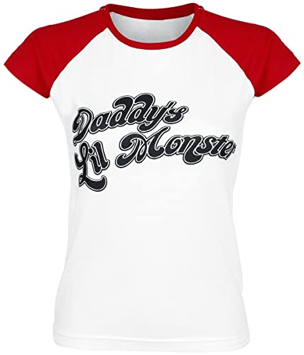 Suicide Squad Shirt Daddys Lil Monster Baseball Oficial de Las Mujeres Skinny