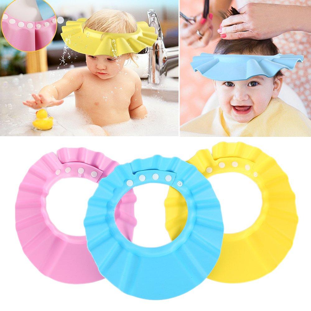 réglable Safe Shampooing Douche Bain protéger doux Casquette Chapeau pour bébé enfants Enfants GUOYIHUA