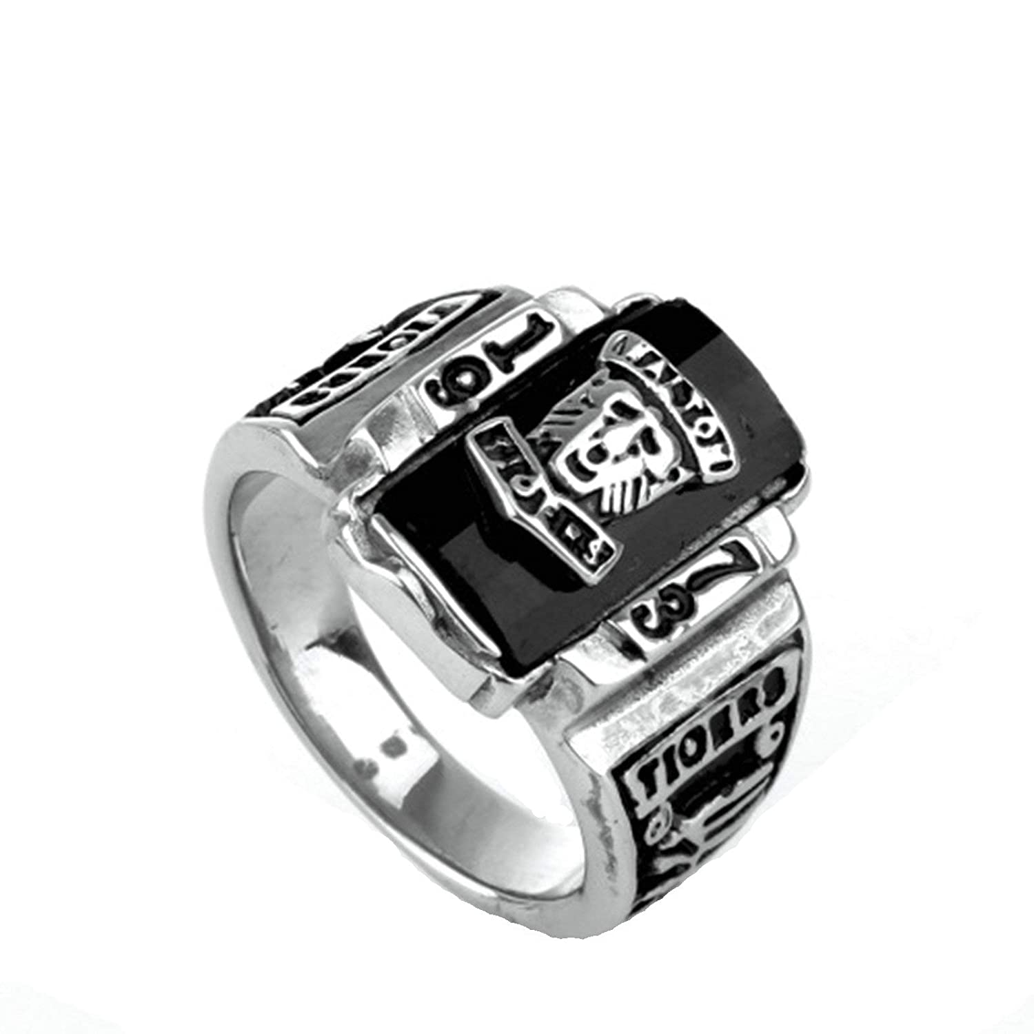 MoAndy Stainless Steel Jewelry Stainless Steel Ring for He Wedding Ring King Size 8