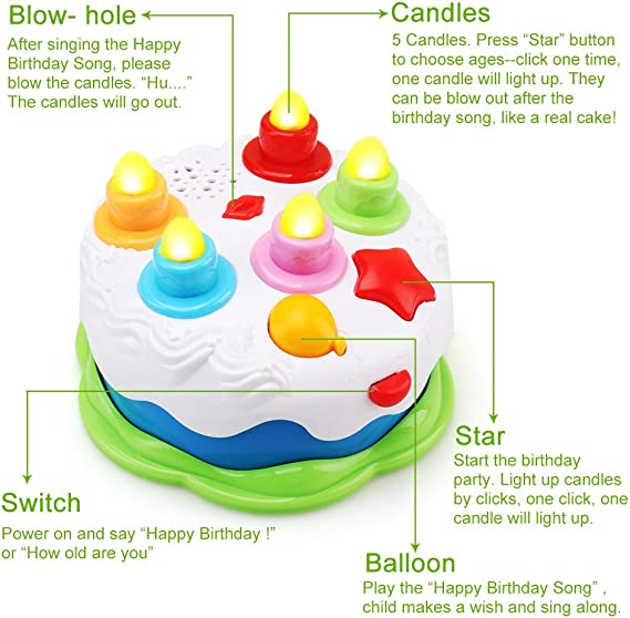 Amazon.com: Amy&Benton - Juguete para tarta de cumpleaños ...