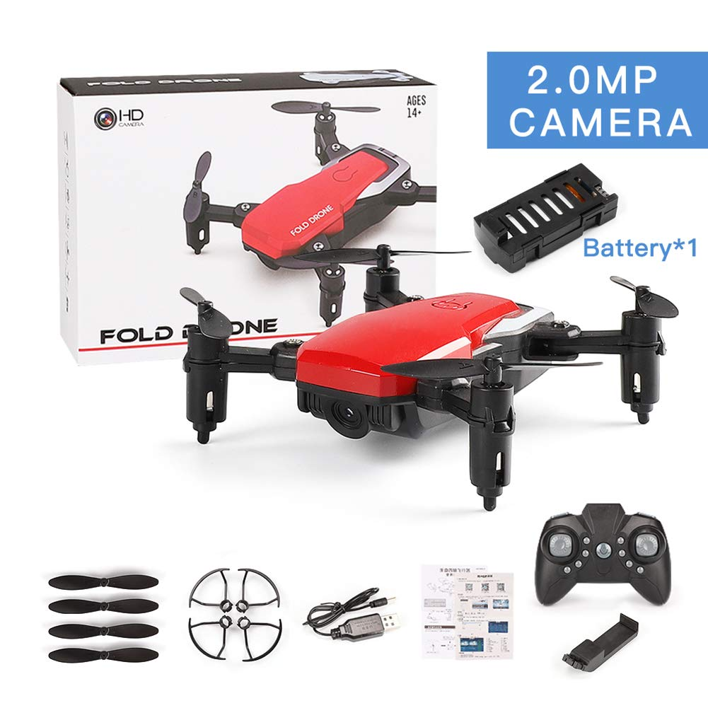 Aland-RC Hobby 2.4 GHz 4 Channels Gyro 360 Flip Folding Barometer Position Quadcopter - Red 2.0MP Camera by Aland (Image #1)