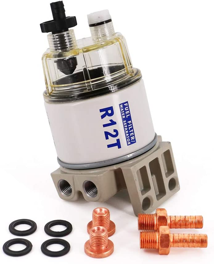 GENUINE Racor R12T A-120AT FUEL FILTER//WATER SEPARATOR uses R12T 10 MICRON