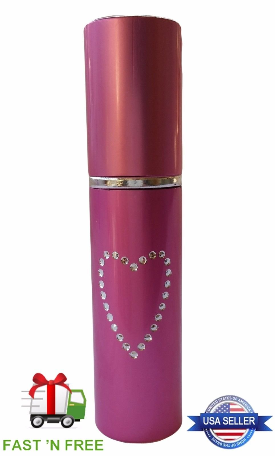 Pink Pepper Spray Self Defense For Women - Lipstick Style Police Strength Tactical Everyday Neutralizer Is Small + Discreet - Personal Safety Device Survival Tool Perfect for Pockets and Purses