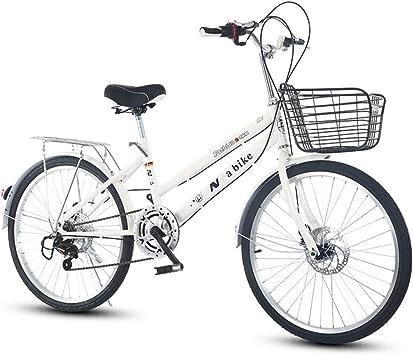 DRAKE18 Bicicleta de Mujer, 24 Pulgadas, Cambio de 6 velocidades ...