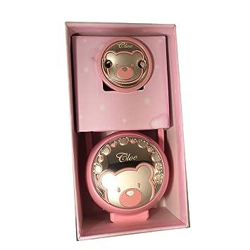 Pinza y Guardachupete osito rosa GRABADO con el nombre de la niña: Amazon.es: Bebé