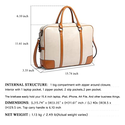 Amazon.com: BOSTANTEN Leather Briefcase Messenger Satchel Bags Laptop Handbags for Women: Computers & Accessories