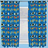 Character world 72-Inch Justice League Invincible Curtains, Multi-Colour