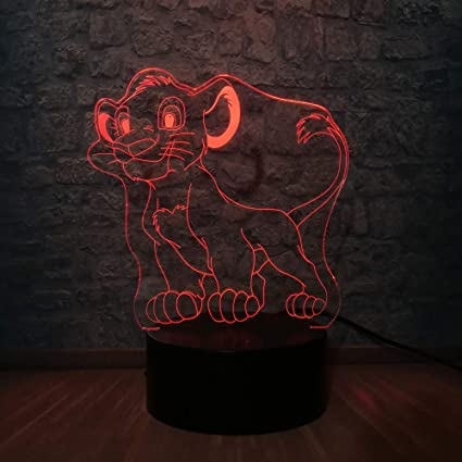 wangZJ 3d Led Usb Night Light/visual 7 Colors Illusion/rgb ...