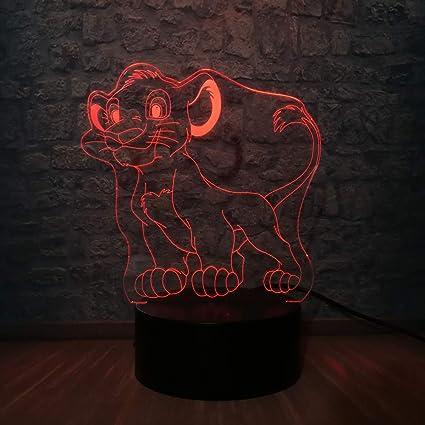 wangZJ 3d Led Usb Night Light/visual 7 Colors Illusion/rgb ...