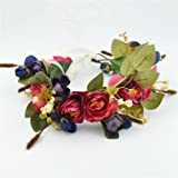 Vivivalue Floral Crown Rose Flower Headband Hair