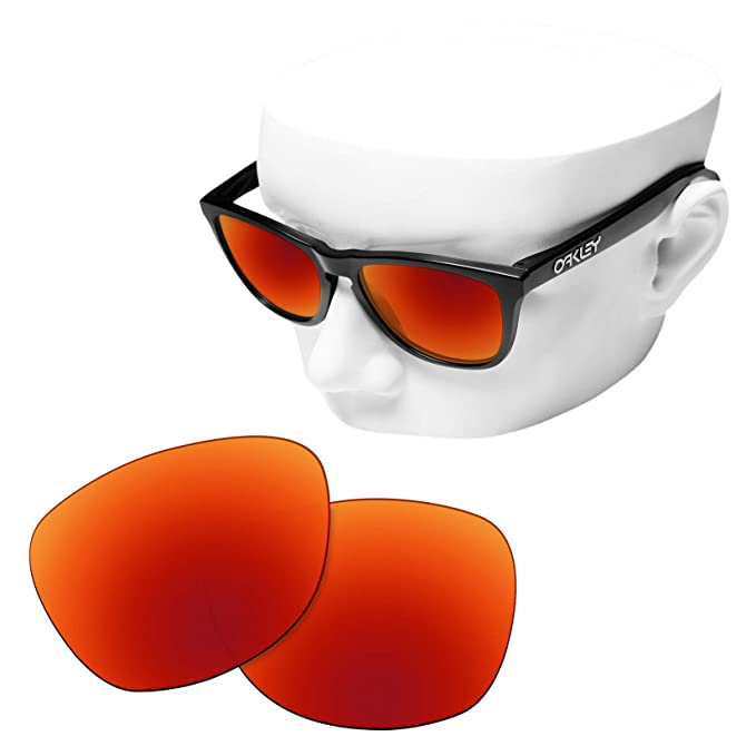 fcf75c4f95 Image Unavailable. Image not available for. Color  OOWLIT Replacement Lenses  Compatible with Oakley Frogskins Sunglass Fire Non-polarized