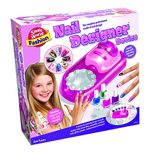 Small World Toys Fashion - Nail Designer Device Makeup Kit (50 Costume Ideas)