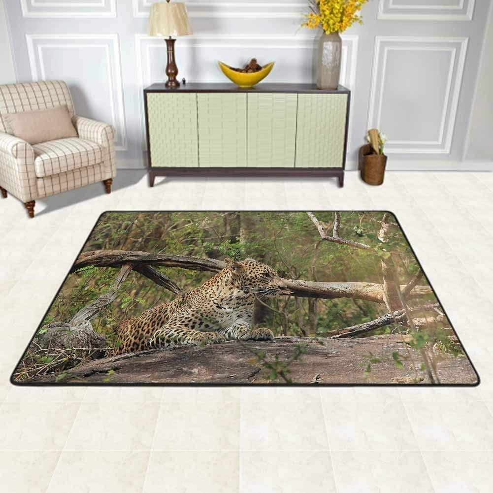 Jungle Carpet For Living Room Modern Sri Lanka Panther In Bushes Rug Carpets For Living Room Decor 2 X 4 Feet Amazon Ca Home Kitchen