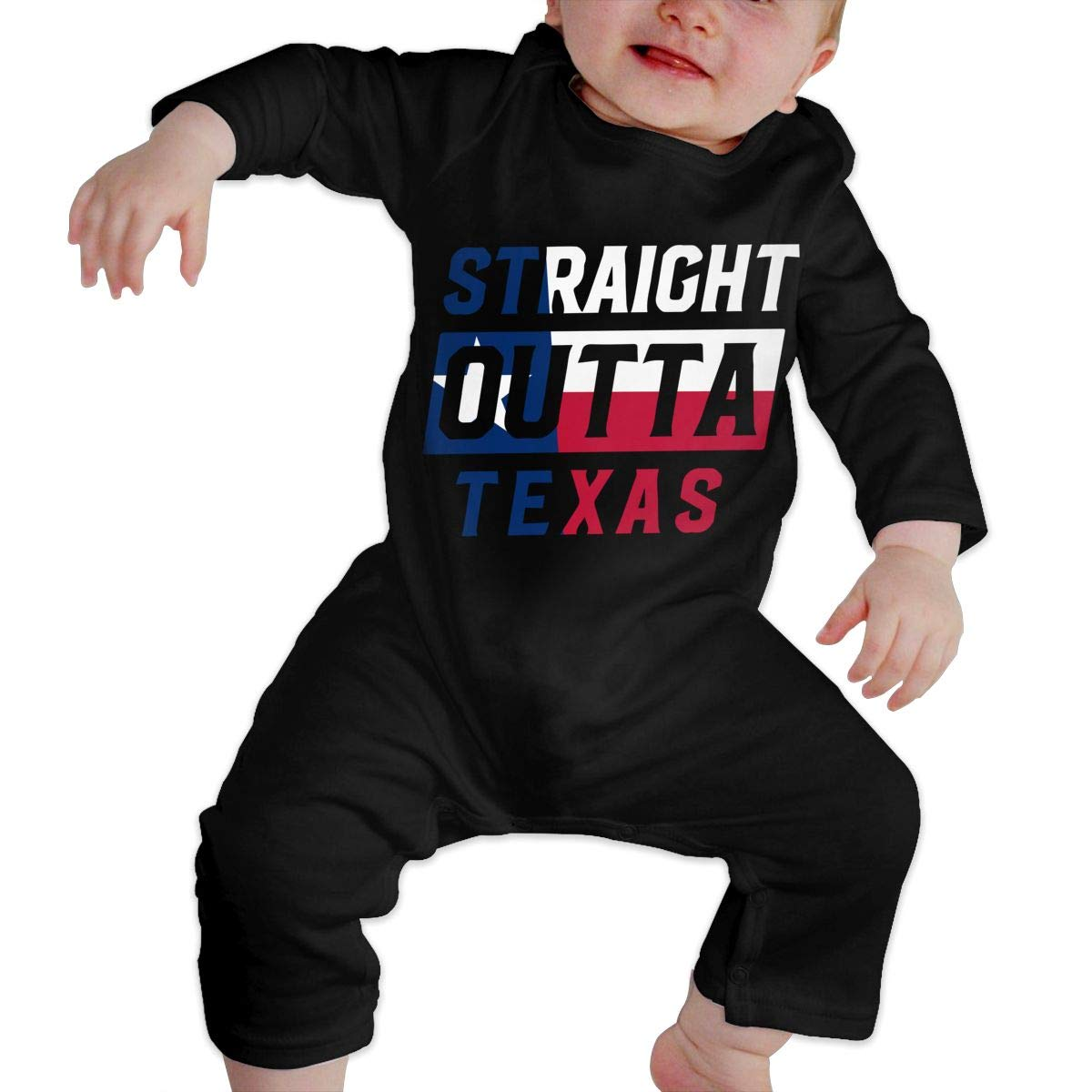 LBJQ8 Straight Outta Texas Newborn Toddler Baby Soft /& Breathable Romper Jumpsuit Outfits Clothes