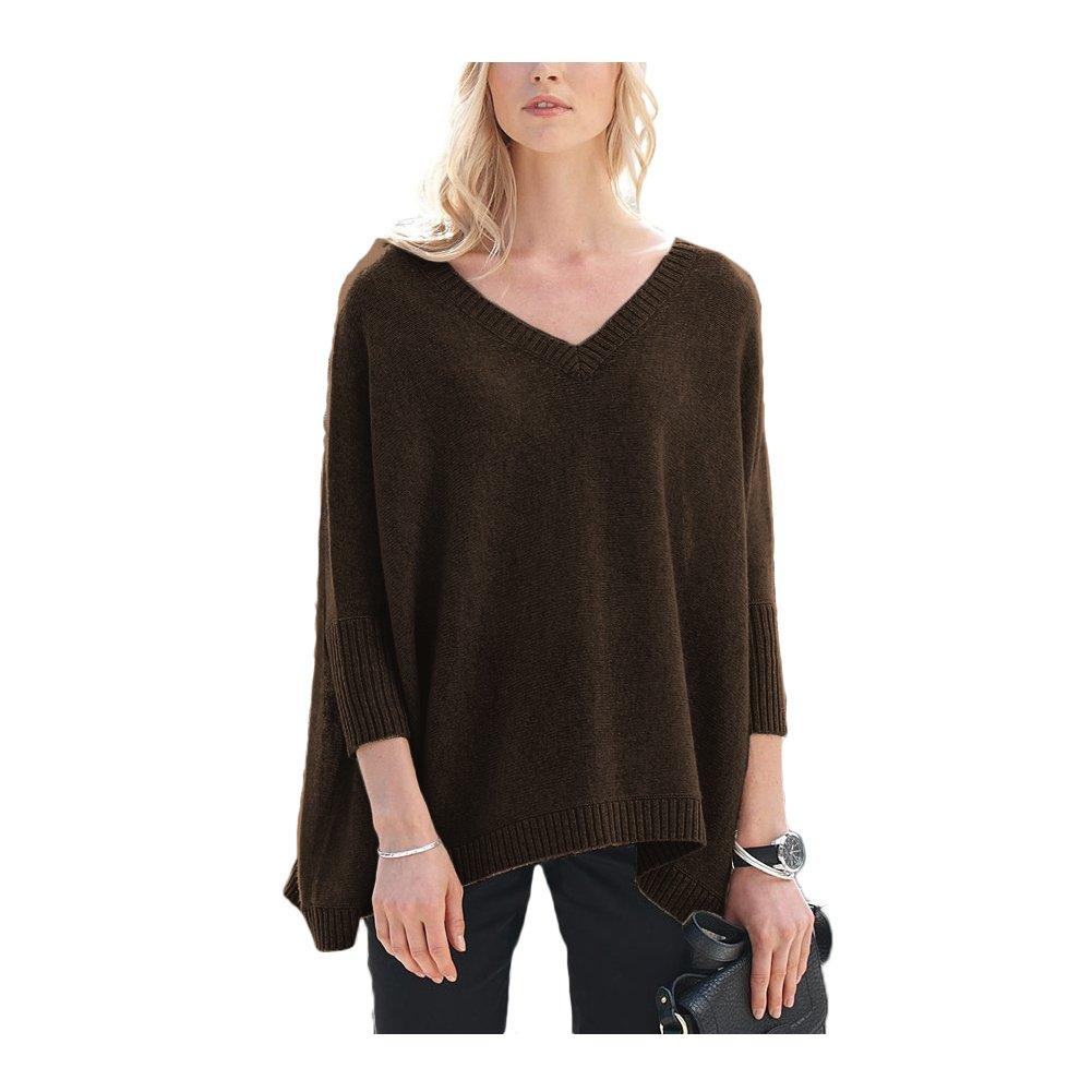 Parisbonbon Womens 100/% Cashmere V-Neck Sweater