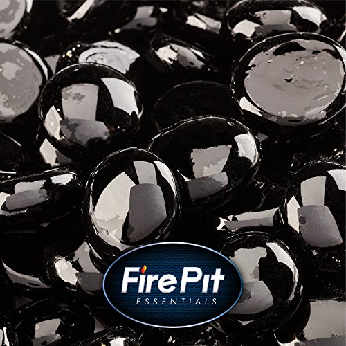1/2'' Fire Glass Beads for Indoor or Outdoor Fire Pits or Fireplace (Black Sable) by Fire Pit Essentials