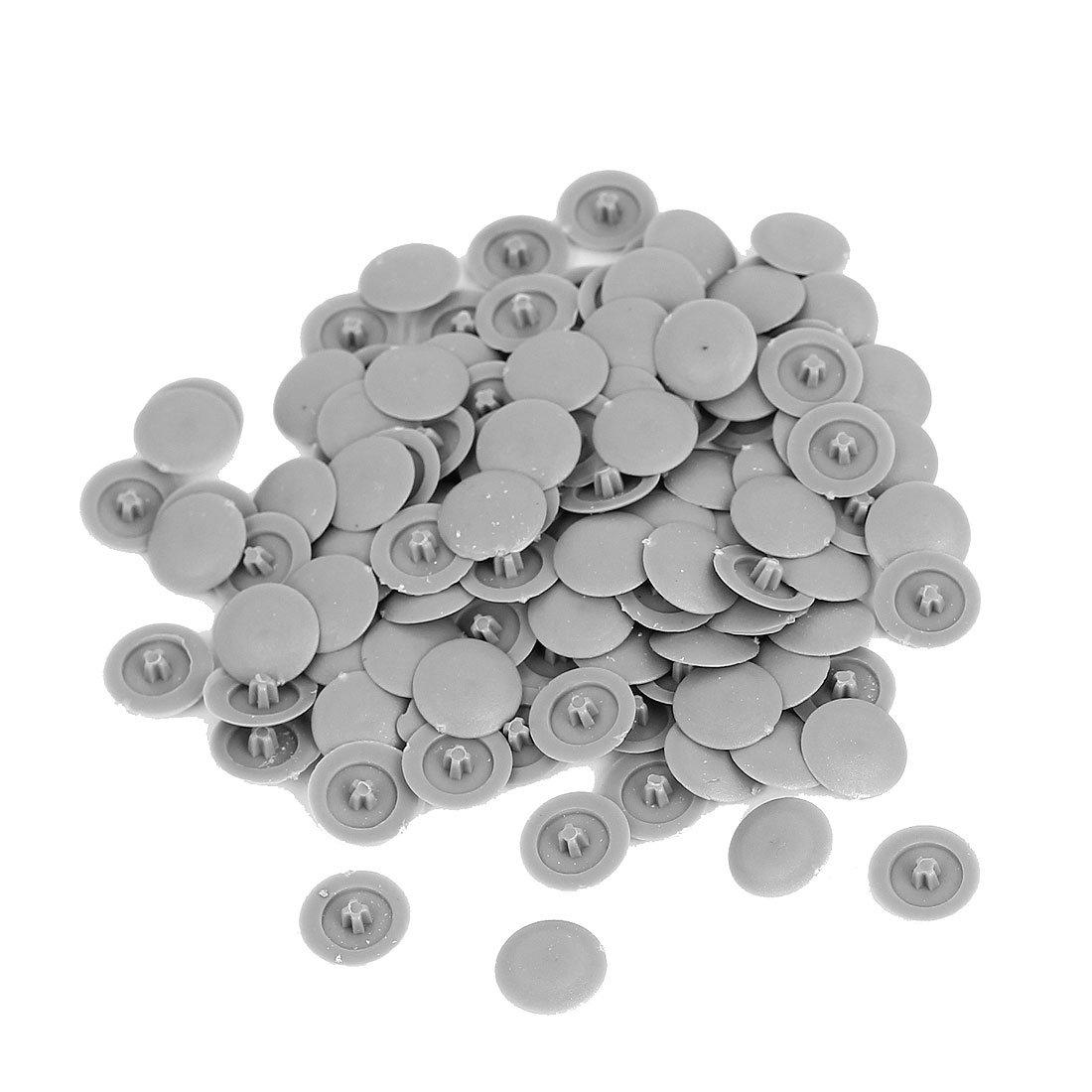 Phillips Screws Plastic Decoration Cap Cover 12mm x 3mm 100pcs Gray uxcell a15072800ux0736