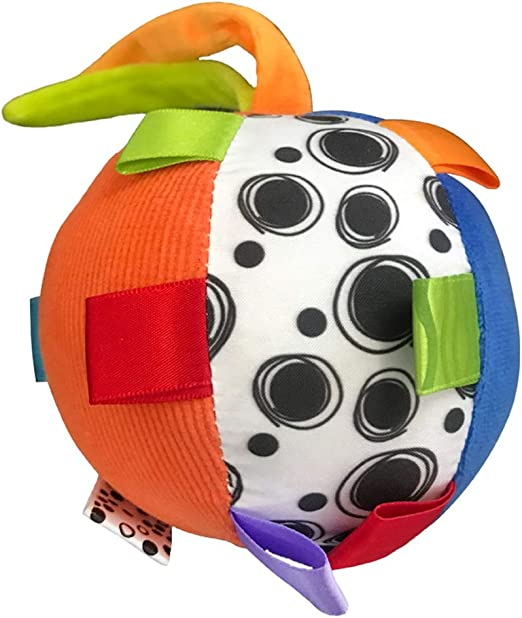 Weesey - Pelota de Mano de Juguete para bebé con sonajero de Felpa ...