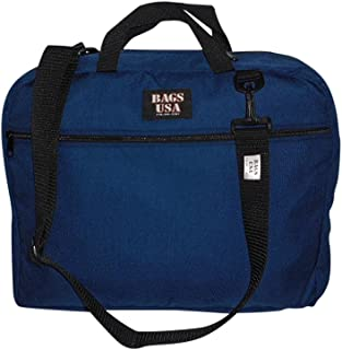 product image for Briefcase with Full Outside Pocket and Two Inside Pocket,Soft Briefcase, Made in U.s.a. (Navy)