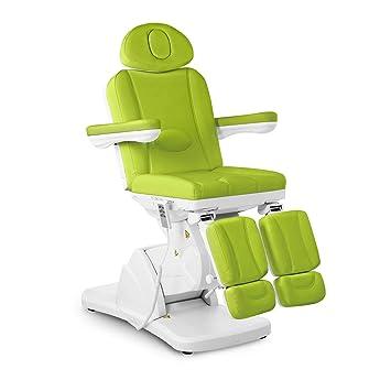 Physa LA PAZ GREEN Fußpflegestuhl elektrisch Kosmetikstuhl grün Kosmetikliege höhenverstellbar Fußpflegeliege mit Fernbedienu