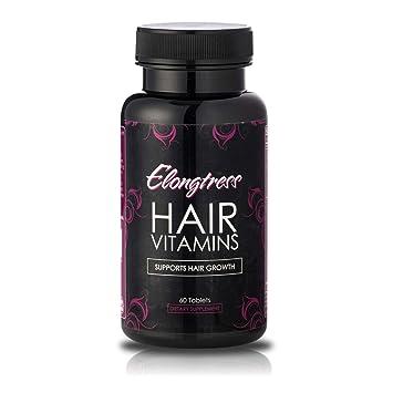 El crecimiento del cabello Vitaminas - 5000 mcg Biotina, sílice y MSM - 2 por día vitaminas del pelo para ...