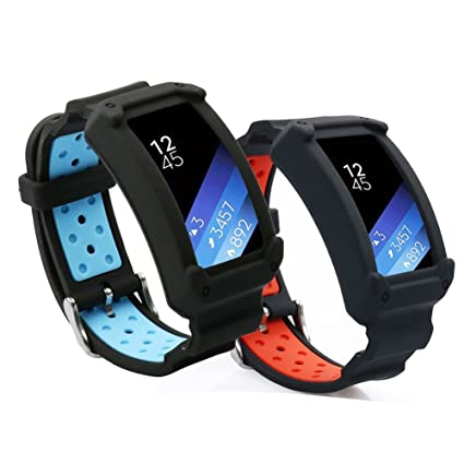Gear Fit2 Bands,Uwatchband Soft Silicone Replacement Sport Band for Samsung Gear Fit 2 SM-R360/Fit 2 Pro Smart watch