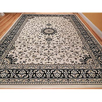 Amazon Com Large 8x11 Ivory Persian Traditional Style Rug