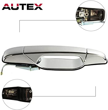 Chrome Outer Rear Passenger Side Door Handle for 2007-2014 GMC Yukon XL 1500
