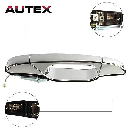 AUTEX Door Handle Exterior Outer Rear Left Side Compatible with Cadillac  Escalade,GMC Sierra Yukon,Chevy Silverado Tahoe Avalanche 07-14 Door Handle