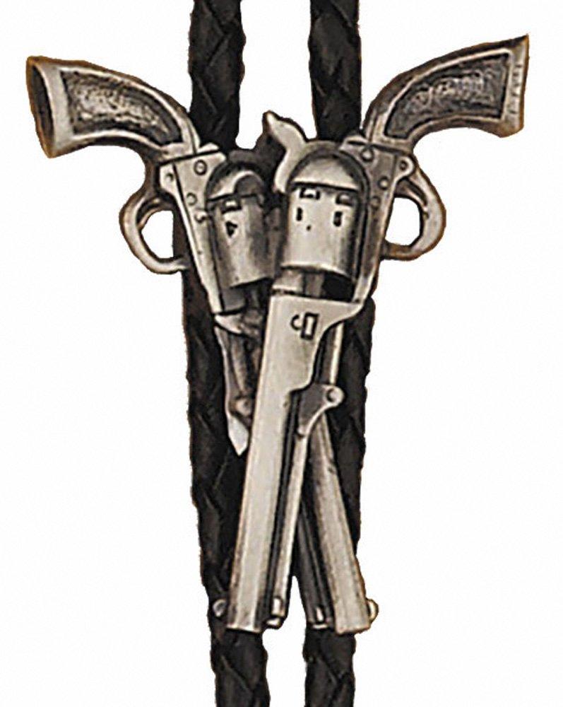 Crossed Guns Bolo Tie WEX-BT-45