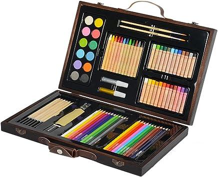 Kit De Arte Profesional Kit De Arte De Lápices De Colores De 86 Piezas para Niños Caja De Regalo De Adolescentes Y Adultos/Cajas De Dibujo para Dibujo Y Más: Amazon.es: Deportes y