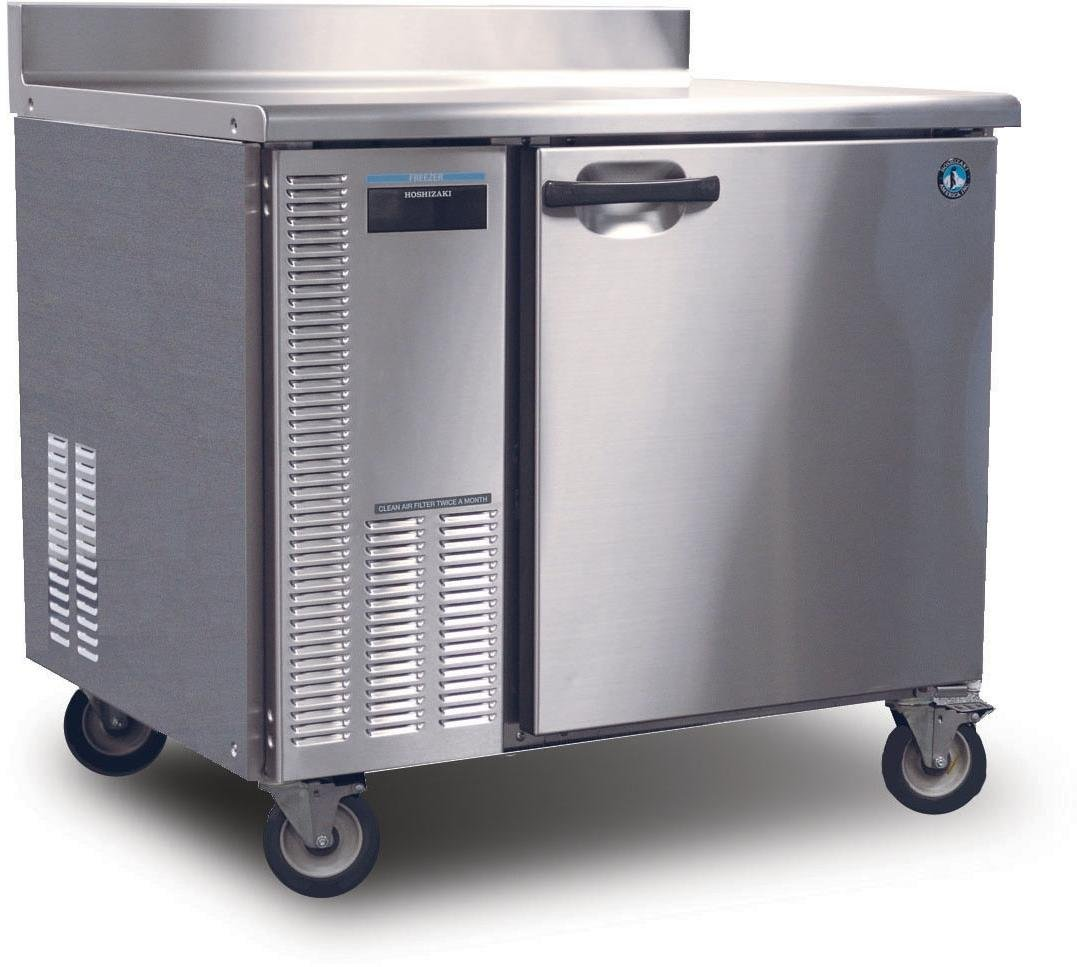 HWF40A 41'''' Professional Series Worktop Freezers with 8.5 cu. ft. Capacity EverCheck System Stainless Steel Interior and Exterior Removable Refrigeration System and Energy Efficient Automatic Hot Gas condensate Evaporator: Stainless Steel