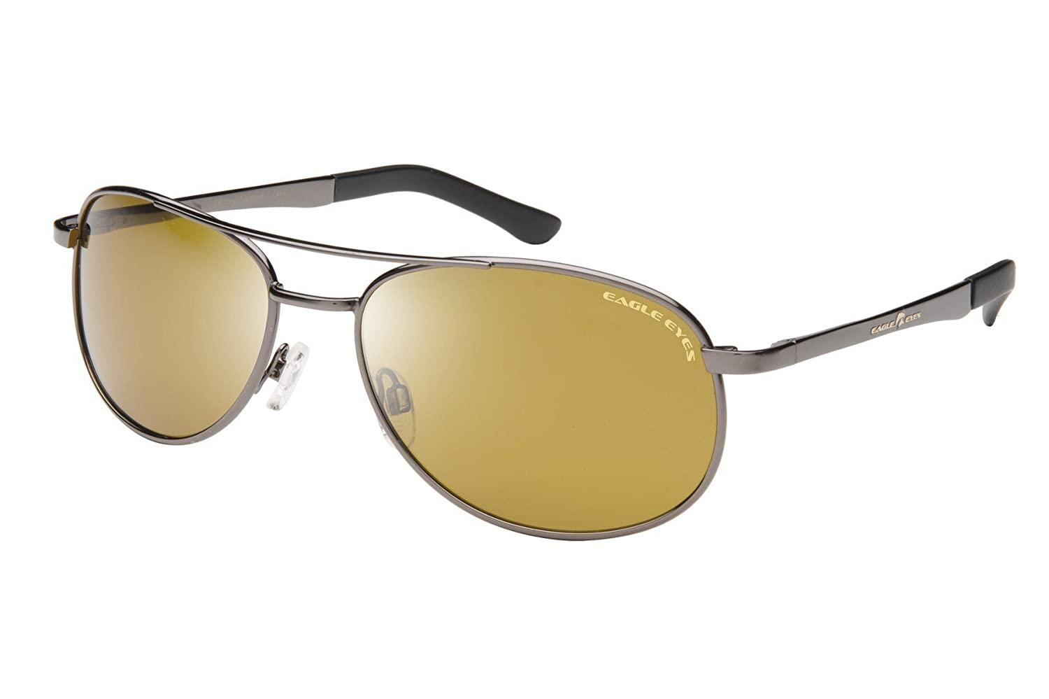 Eagle Eyes Aviator Polarized Sunglasses - Aviator Glasses with Brow Bar