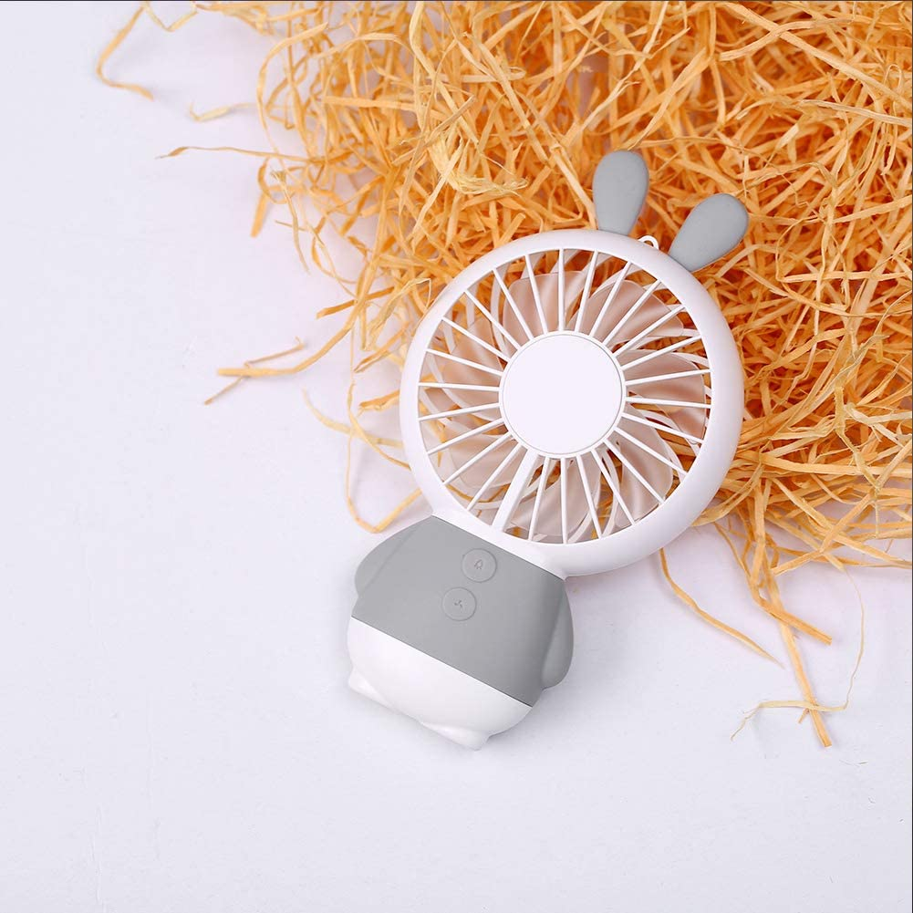 redcolourful USB Rechargeable Handheld Cute Mini Fan with Colorful Light for Student Pink Creative Lifestyle