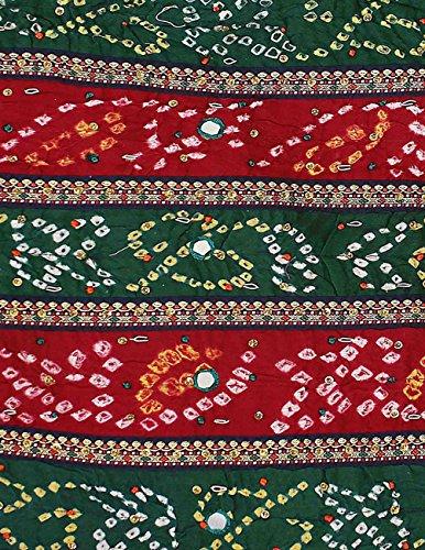 Langes Abendkleid rot und blau für Frauen von indische Baumwolle Tie Dye Drucken 111 cm ricamoperline
