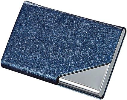 Oro Porta biglietti da visita//porta carte,acciaio inox e carte di credito in pelle PU,Multi Caso di carte per uomini e donne con chiusura magnetica