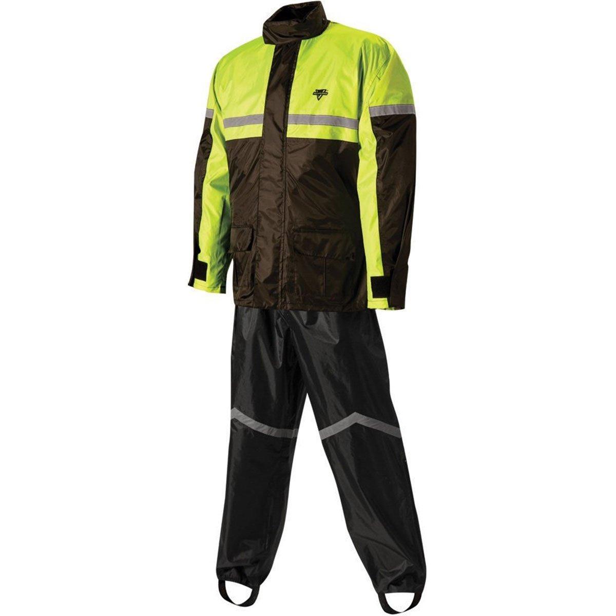 Nelson Rigg SR-6000 Black/Hi-Viz Yellow Stormrider 2-Piece Rain Suit - X-Large