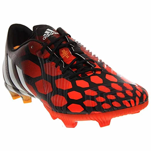Adidas Predator Instinct FG Soccer Cleat (Solar Red, Core Black) Sz. 6.5
